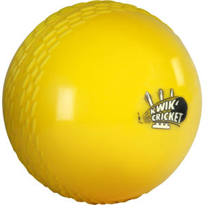 Kwik Cricket Ball -  Yellow