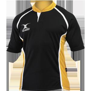 Gilbert Rugby Xact Shirt Black Amber