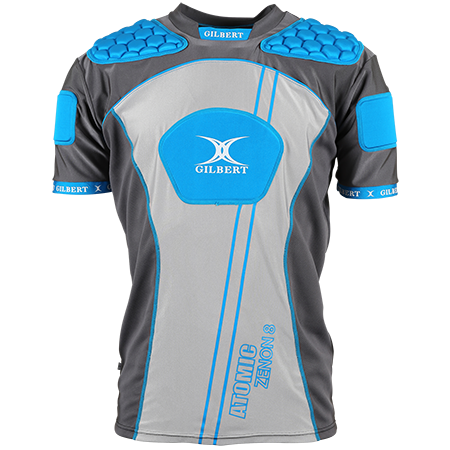 Gilbert Rugby Body armour Atomic Zenon V2 Electric Blue Front