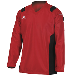 Gilbert Rugby Revolution Contact Top red Black