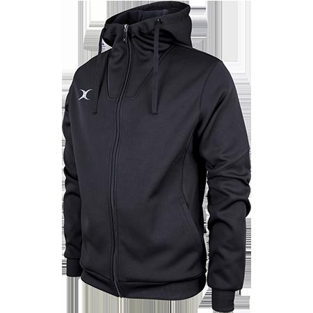 Gilbert Rugby Clothing Pro Technical Hoodie Full Zip Black Main