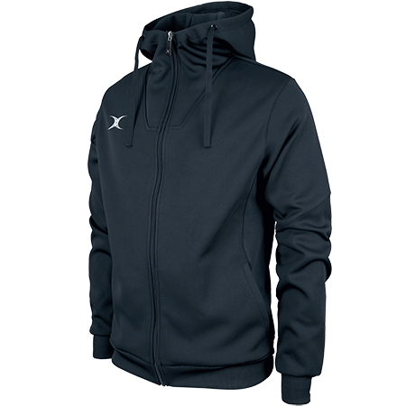 Gilbert Rugby Clothing Pro Technical Hoodie Full Zip Dark Navy Main