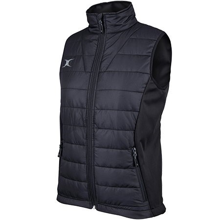 Gilbert Rugby Clothing Pro Bodywarmer Ladies Black Main