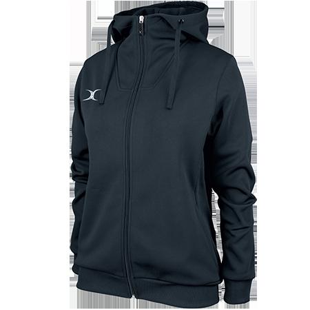 Gilbert Rugby Clothing Pro Technical Hoodie Full Zip Ladies Dark Navy Main