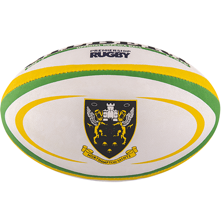 Gilbert Rugby Replica Northampton Size 5 Panel 1