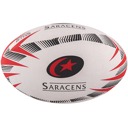 Gilbert Rugby Supporter Saracens Size 5 Panel 1