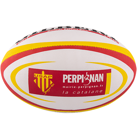 Gilbert Rugby Replica Perpignan Size 5 Panel 1
