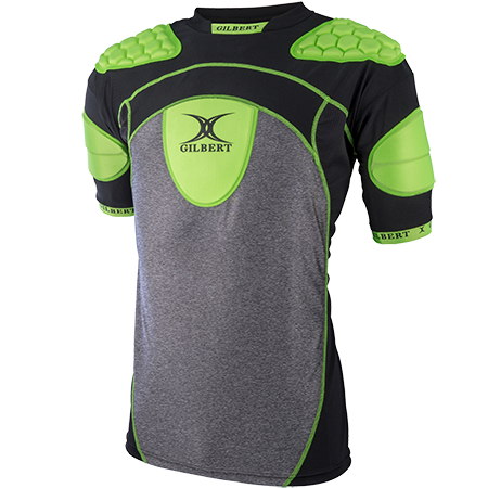 Gilbert Rugby ATOMIC ZEN V2 green black FRONT VIEW