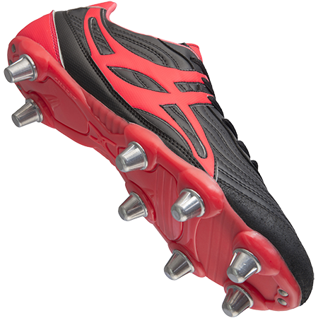 Gilbert Rugby Sidestep V1 Lo 8 Stud Hot Red Creative