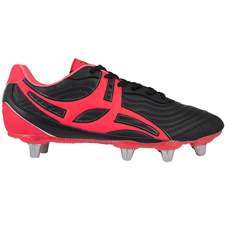 Gilbert Rugby Sidestep V1 Lo 8 Stud Hot Red Outstep