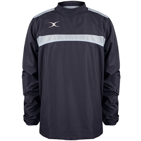 Gilbert Rugby Clothing Photon Mens Warm Up Dark Navy & Sky Front