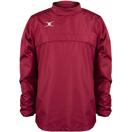 Gilbert Rugby Clothing Photon Mens Warm Up Maroon Front