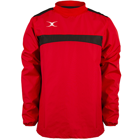 Gilbert Rugby Clothing Photon Mens Warm Up Red & Black Front