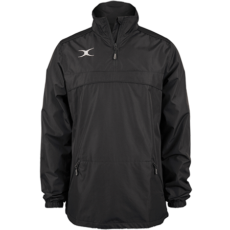 Gilbert Rugby Clothing Photon Mens Quarter Zip Black Front