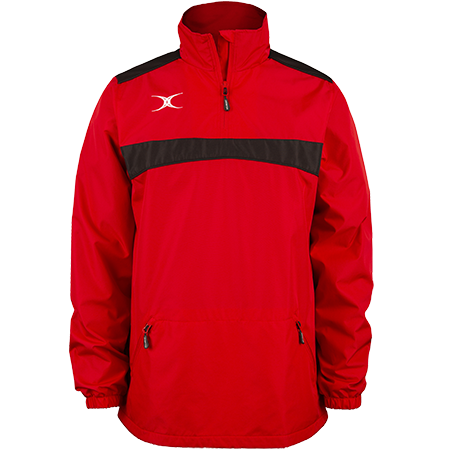 Gilbert Rugby Clothing Photon Mens Quarter Zip Red & Black Front