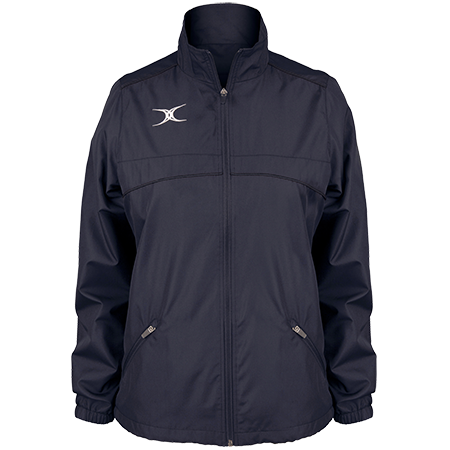 Gilbert Rugby Clothing Photon Ladies Full Zip Dark Navy Front