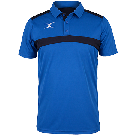 Gilbert Rugby Clothing Photon Mens Polo Royal & Dark Navy Front