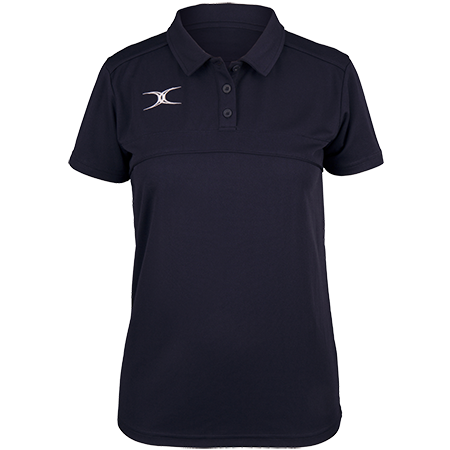 Gilbert Rugby Clothing Photon Ladies Polo Dark Navy Front