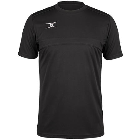 Gilbert Rugby Clothing Photon Mens Tee Black Front