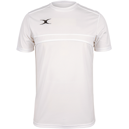 Gilbert Rugby Clothing Photon Mens Tee White Front