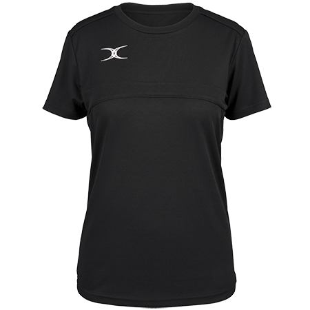 Gilbert Rugby Clothing Photon Ladies Tee Black Front