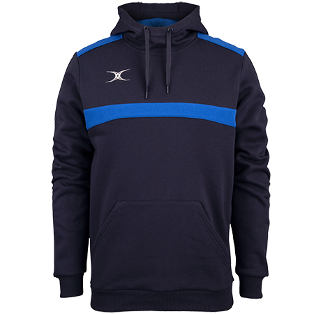 Gilbert Rugby Clothing Photon Mens Hoodie Dark Navy & Royal Front