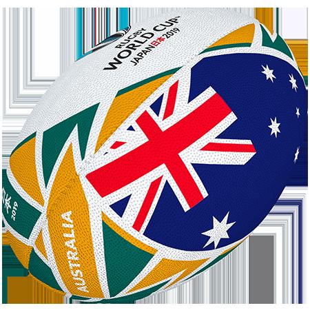 Gilbert Rugby Rwc 2019 Flag Australia Size 5