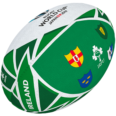 Gilbert Rugby Rwc 2019 Flag Ireland Size 5