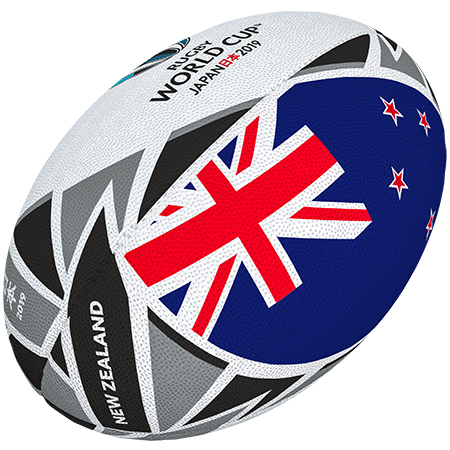 Gilbert Rugby Rwc 2019 Flag New Zealand Size 5