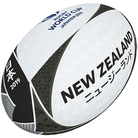 Gilbert Rugby Rwc 2019 Supporter New Zealand Size 5