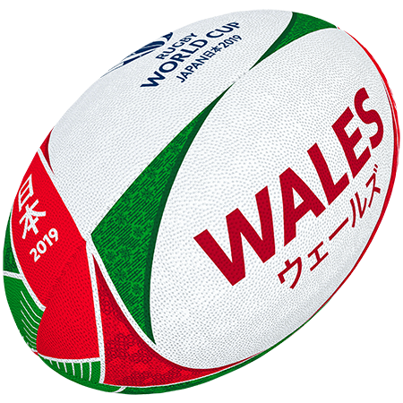 Gilbert Rugby Rwc 2019 Supporter Wales Size 5