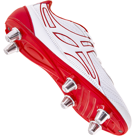 Gilbert Rugby Boots Sidestep V1 Lo 6s White_red Main